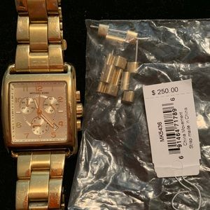 Gold Micheal Kors gold plated watch